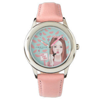 Make up Jennie leather strap watch
