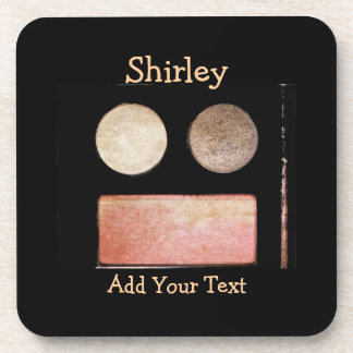 Make-Up Palette-Face by Shirley Taylor Coaster