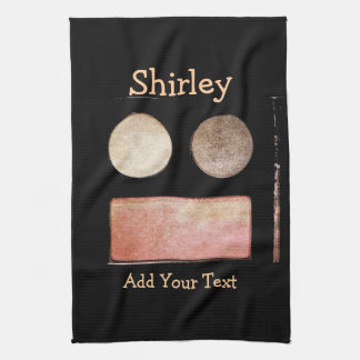 Make-Up Palette-Face by Shirley Taylor Tea Towel