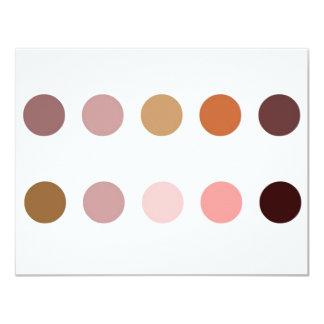 Make-up Palette 11 Cm X 14 Cm Invitation Card