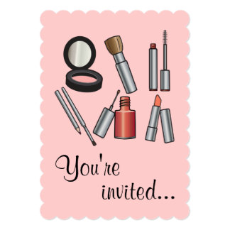 Make-Up Party 13 Cm X 18 Cm Invitation Card