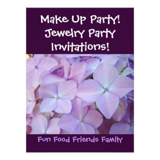 Make Up Party Invitations Jewelry Party Flowers