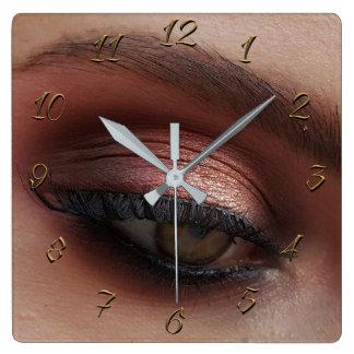 Make up store square wall clock