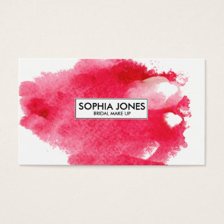 ★ Make Up Watercolour-Modern Custom Business Card
