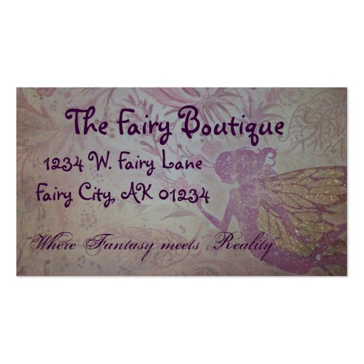 Make ur own fairy card business cards