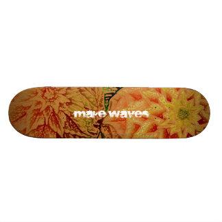 Make Waves Hawaiian Hipster Skateboard
