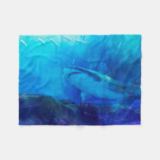 Make Way for the Great White Shark King Fleece Blanket
