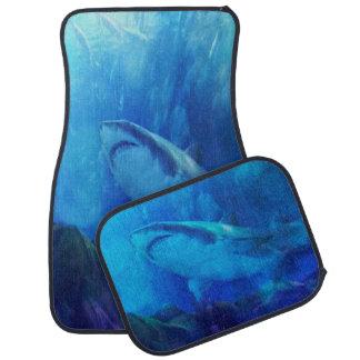 Make Way for the Great White Shark King Floor Mat