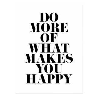 Make You Happy Minimal Motivational Quote Postcard