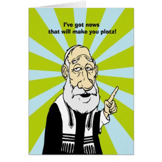Make you plotz card
