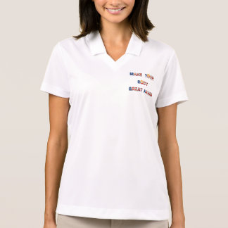 Make Your Body Great Again With Trump Hair Funny Polo Shirt