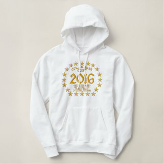 Make your Class Of Your Year Stars Embroidered Embroidered Hoodie