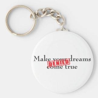 Make your dreams come true: DENIED Key Chain