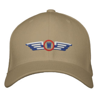 Make Your Monogram Aviation Laurels Pilot Wings Embroidered Cap