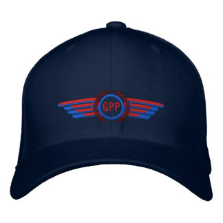 Make Your Monogram Aviation Laurels Pilot Wings Embroidered Hat