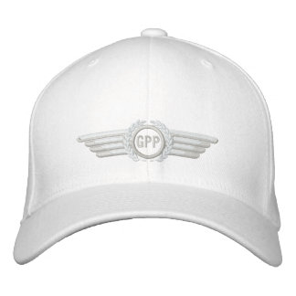 Make Your Monogram Aviation Laurels Pilot Wings Embroidered Hats