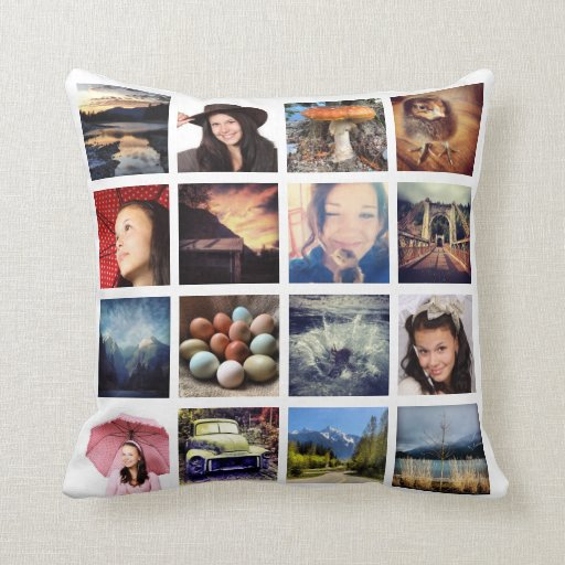 Make Your Own 32 Instagram Photo Collage Pillow