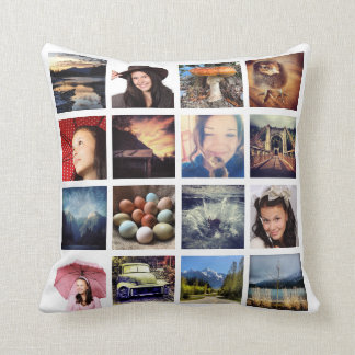 Make Your Own 32 Instagram Photo Collage Throw Cushion
