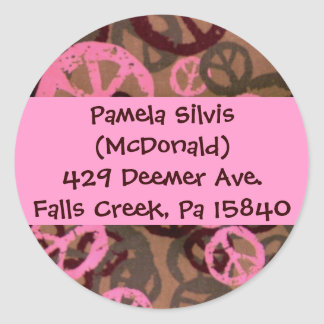 Make Your Own Address Labels! Classic Round Sticker