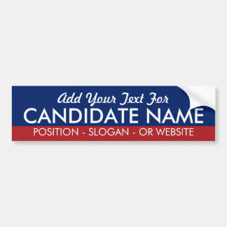 Make Your Own Campaign Gear for Favorite Candidate Bumper Sticker
