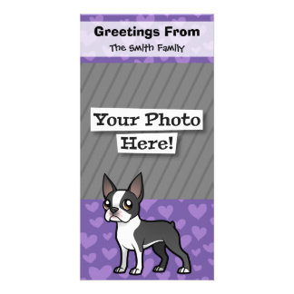 Make Your Own Cartoon Pet Photo Card Template