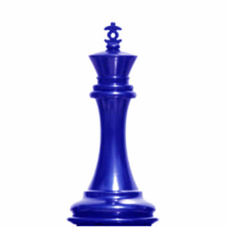 Make your own chess set Blue King Standing Photo Sculpture