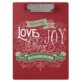Make Your Own Christmas Typography Custom Banner Clipboard