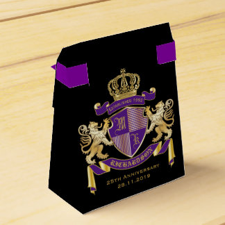 Make Your Own Coat of Arms Monogram Crown Emblem Favour Box