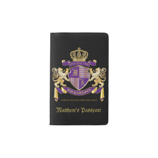 Make Your Own Coat of Arms Monogram Crown Emblem Pocket Moleskine Notebook