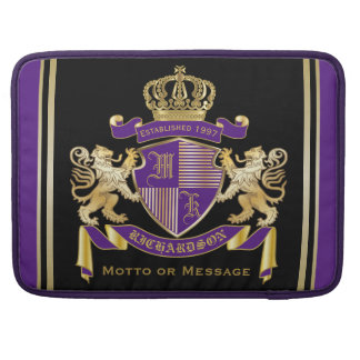Make Your Own Coat of Arms Monogram Crown Emblem Sleeve For MacBooks