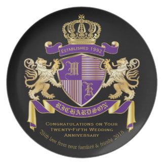 Make Your Own Coat of Arms Monogram Lion Emblem Plate
