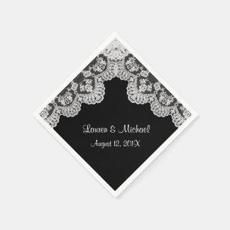 Make Your Own Color Faux White Lace Wedding Disposable Serviette