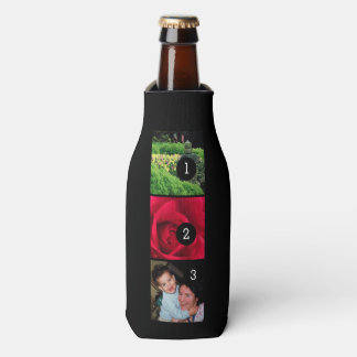 Make your own decor easily with 3 images on a bottle cooler