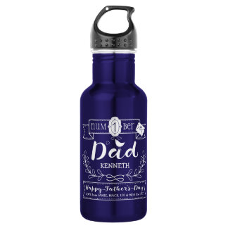 Make Your Own Father's Day No. 1 Dad Cute Monogram 532 Ml Water Bottle