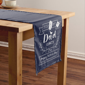 Make Your Own Father's Day No. 1 Dad Cute Monogram Short Table Runner