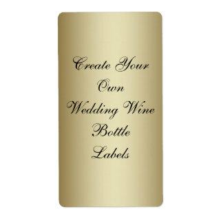 Make Your Own Gold Black Wedding Wine Bottle