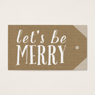 Make Your Own Holiday Tag Business Card