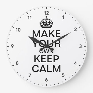Make Your Own Keep Calm and Carry On Wall Clock
