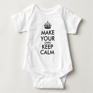 Make your own keep calm - black baby bodysuit
