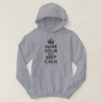 Make your own keep calm - black hoodie