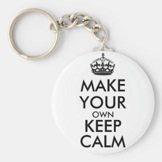 Make your own keep calm - black key ring