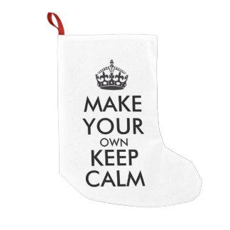 Make your own keep calm - black small christmas stocking