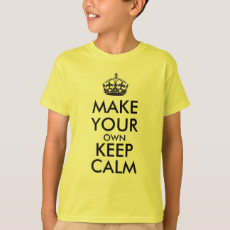 Make your own keep calm - black T-Shirt
