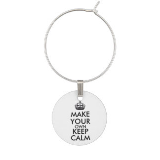 Make your own keep calm - black wine charms
