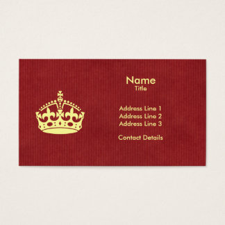Make Your Own Keep Calm Business Card