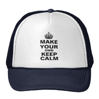Make Your Own Keep Calm Hat (Template)