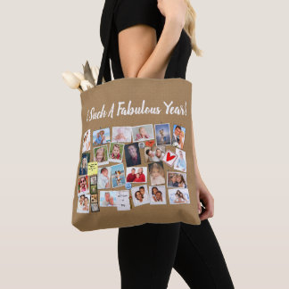 Make Your Own Memories Photo Faux Cork Board Tote Bag