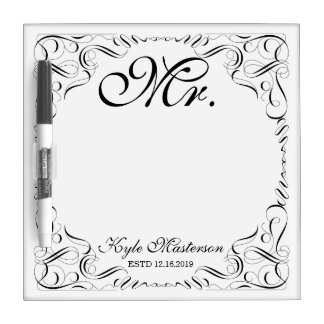 Make Your Own Mr Mrs His Hers Wedding Monogram Dry Erase Board