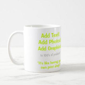 Make your own mug! basic white mug
