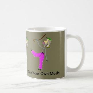 Make Your Own Music-Man Dancing with Cane Coffee Mug